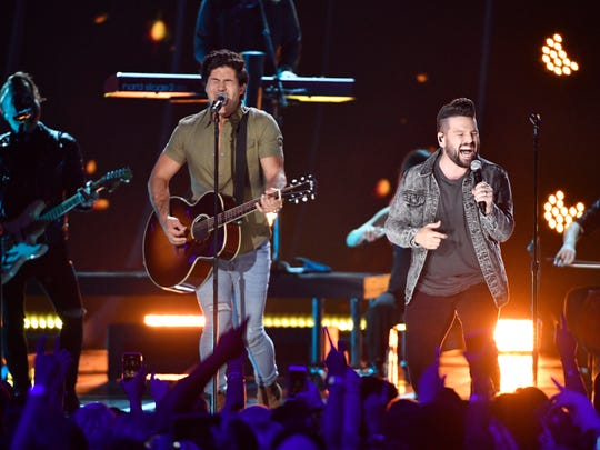 Dan + Shay perform at the CMT Awards on June 6, 2018,