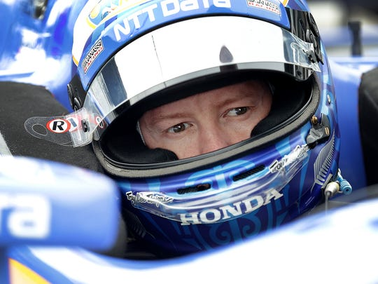 Indy'Car driver Scott Dixon during session for the IndyCar Grand Prix Friday, May 12, 2017, at the Indianapolis Motor Speedway.