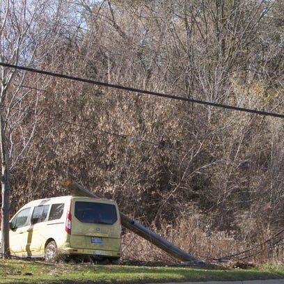 Grand River partially blocked for downed utility pole in Genoa Township