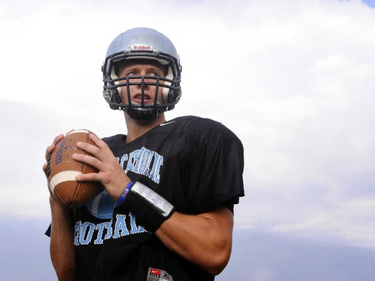 Lansing Catholic Central's Tony Poljan is one of CMU's three three-star recruits this year. The high school QB's college position is unknown.