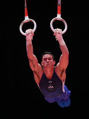 Alex Naddour of Queen Creek completed on four events for the U.S. men in their fifth-place finish at the World Gymnastics Championships.