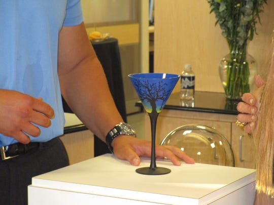 The Absolut Martini Glass designed by Caroline Daigle.