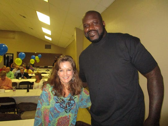 Kris Wartelle and Shaquille O'Neal