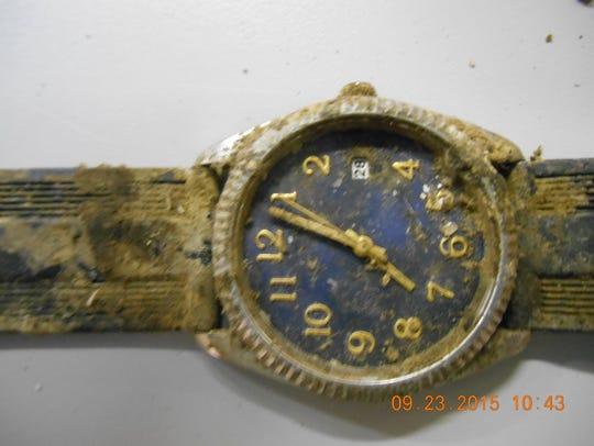 A watch found near bones in the desert off Trans Mountain