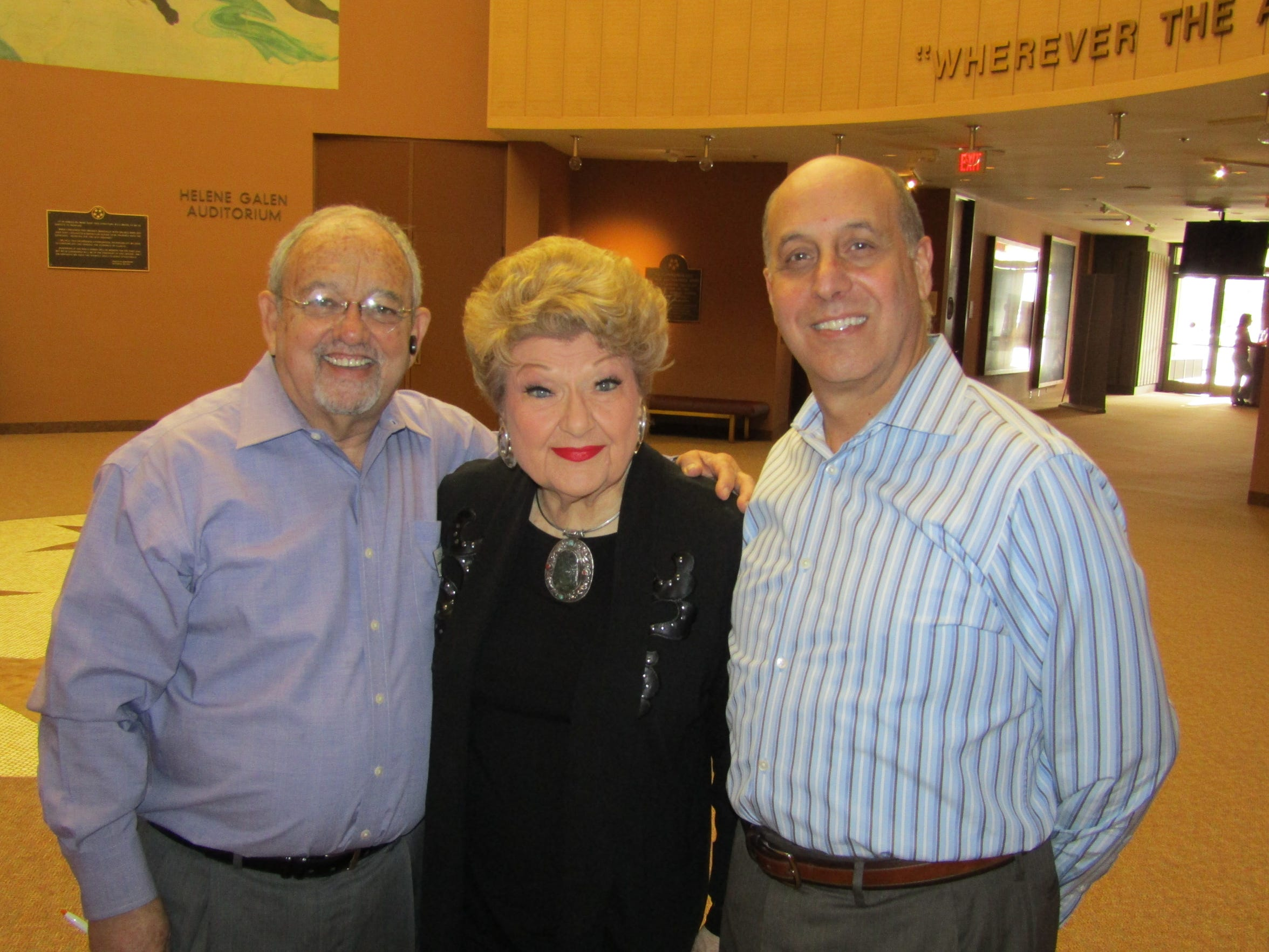 Coachella Valley Repertory Founding Artistic Director Ron Celona appears with CVRep Vice President Sid Craig and jazz vocalist Marilyn Maye. Maye, who supported one of CVRep's monthly Luminary Luncheons in 2016, will perform Oct. 5-6 at Michael Holmes' Purple Room.