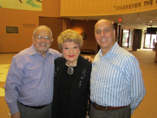CVRep Vice President Sid Craig, Marilyn Maye, CVRep Founding Artistic Director Ron Celona.