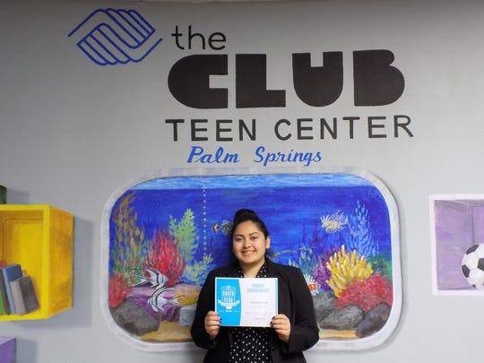 Samantha Torres, recipient of the Boys & Girls Club