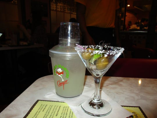 Spicy martini at Chuy's in Lafayette