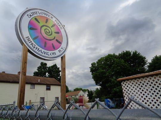 Marylou Rutkowski helped fix up Sunflower Park and
