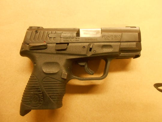 Elmira police found this 9 mm gun in a car they stopped
