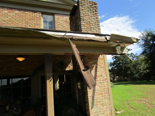 The damage to Tuttie Billuead's  home from her massive