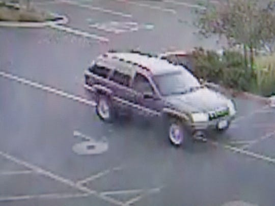The suspect vehicle in Saturday's robbery at Lowe's.