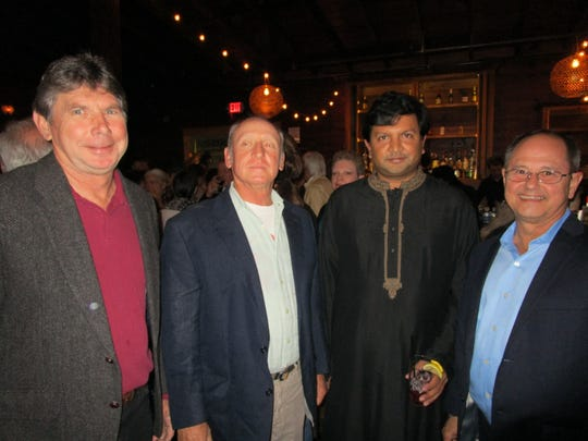 Charles Salassi, Kerry Collins, Nikhil Akkar Aju and Keith Breaux