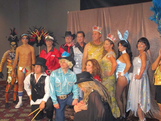 The Krewe of Rio royalty gathers before the start of