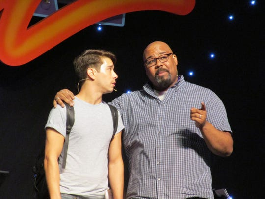 Sam Tanabe (left) and James Monroe Iglehart in the