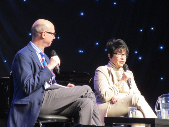 Chita Rivera speaks with Richard Ridge during BroadwayCon