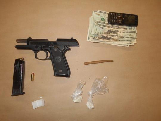 Elmira police found crack cocaine, a firearm, cash