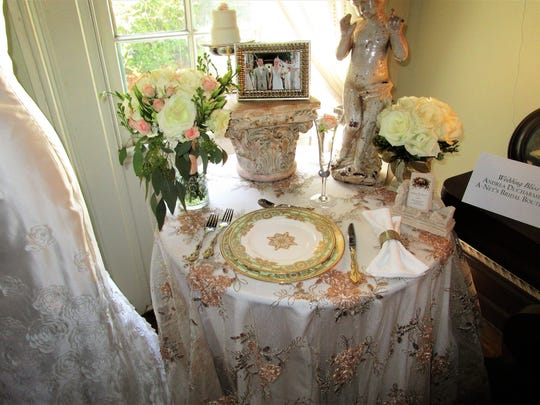 A table on display at Vignettes set by Andy Ducharme.