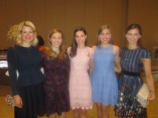Erin Fenstermaker, Sarah Chance, Emily Kemp, Marrissa Torres and Elizabeth Edgens