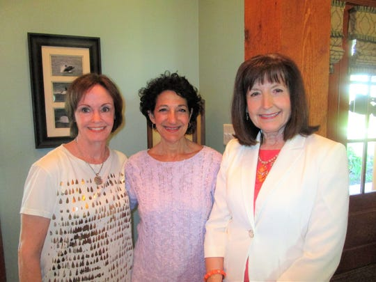 Miriam Bourgeois, Cecile Mouton and Margaret Trahan