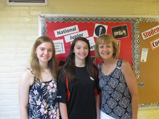 Left to right: Michaela Ryan, Emily Vogel and Lauren