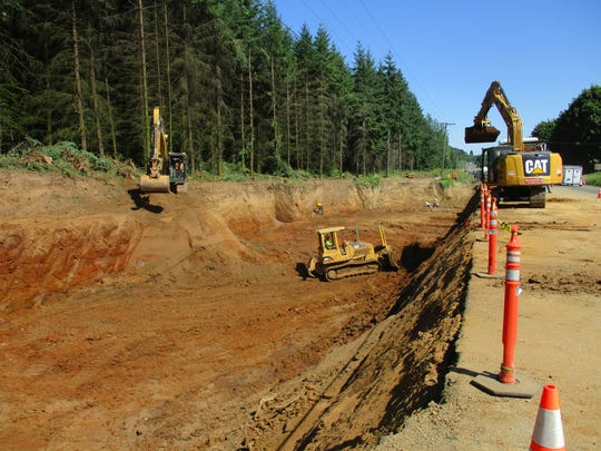 Contaminated soil was removed from the west side of