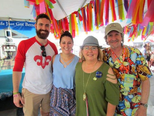 Adam Sellers, Katie Bourcher, Julie and Robbie Bush