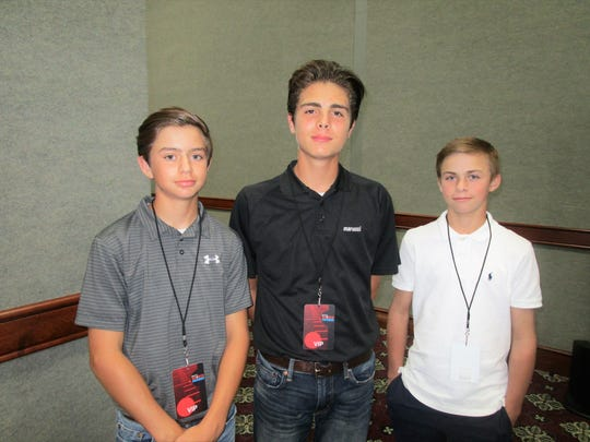 Conner Kleinpeter, Reid Godchaux and Julien Guy