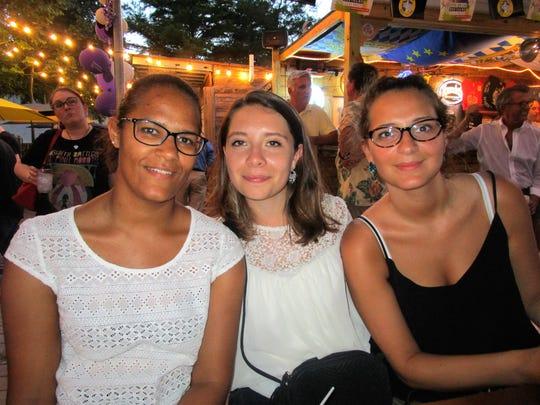 Laura Potuain, Camille Audebaud and Yasmina Soadaure
