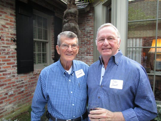 Sammie Cosper and Ken Doucet at a FIL reception in