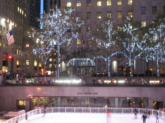 Some of the first ice skaters of the season took to