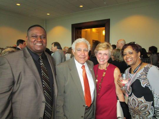 Carl Quiller, Hon. Richard and Kathy Haik and Cheryl