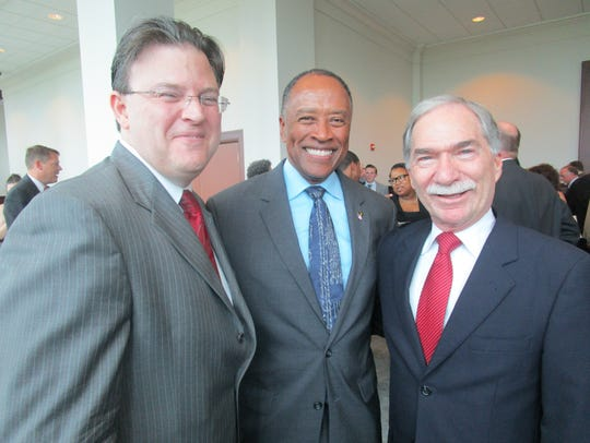 Donald Washington, center, is nominated to lead the U.S. Marshals Service.