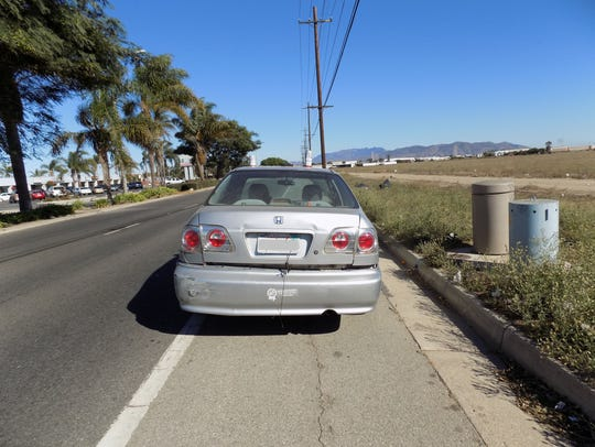 The vehicle in which Port Hueneme police found an 11-year-old