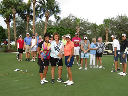 LPGA greats Nancy Lopez, Val Skinner and Laurie Rinker were on hand to help golfers at the tournament.