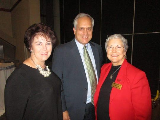 Becky and John Ducrest and Yvonne Adler