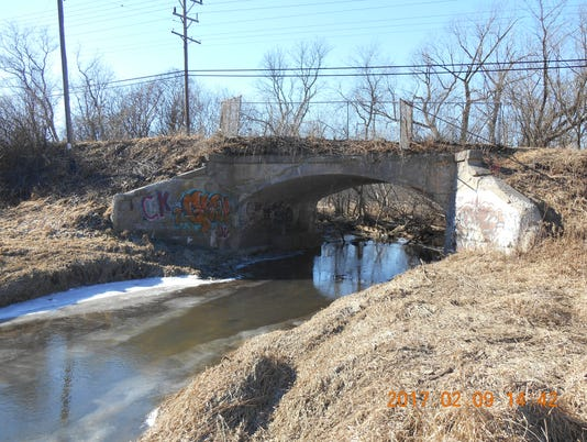 rail bridge over the Root River, near 98th Street and Layton Avenue