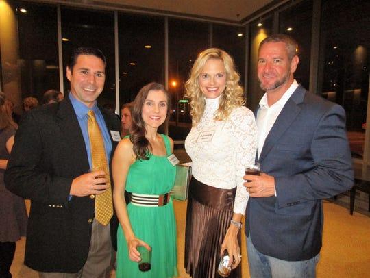 Nick and Adrienne Scelfo, Adrienne and David Barras