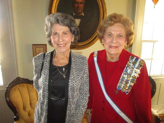 Myra Mouton and Barbara de la Houssaye