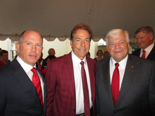 Lenny Lemoine, Nick Saban and Richard Zuschlag