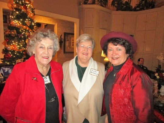 Mildred Baker, June Brillhart and Cynthia Dauphin