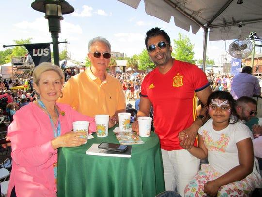 Sue and Jimmy Fontenot, Samaira and Mohit Srivastava