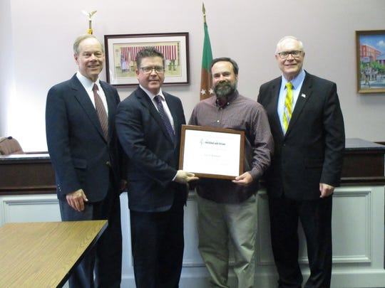 The Franklin County Commissioners presented Corey Alleman