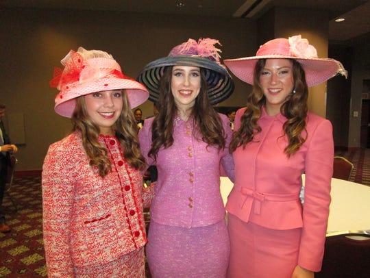 Elise St. Pe., Katheryn Ruckstuhl and Aimee Blanchet