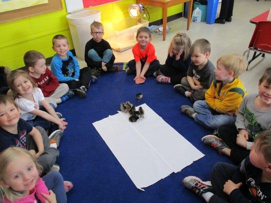 St. John Lutheran 4-year-old kindergarten students