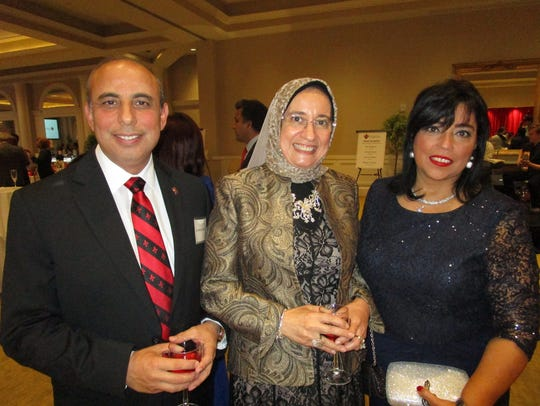 Dr. Ahmed Khattb, Eman Matter and Gigi Hanna