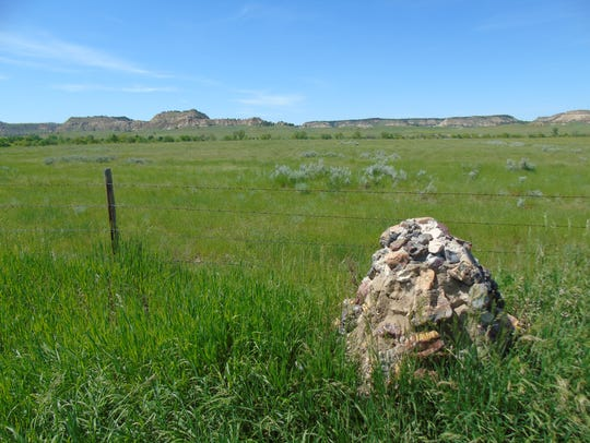 A marker signifies the last campsite of Custer and
