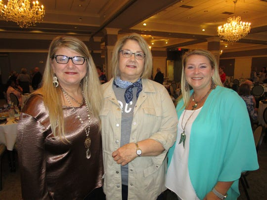 Connie DuBose, Joan Wingate and Sky Abshire