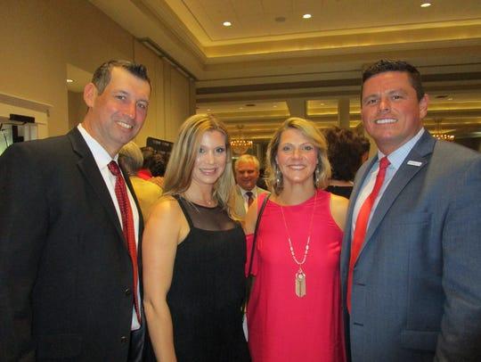 Brady and Courtney Council and Kyla and Jessie Regan
