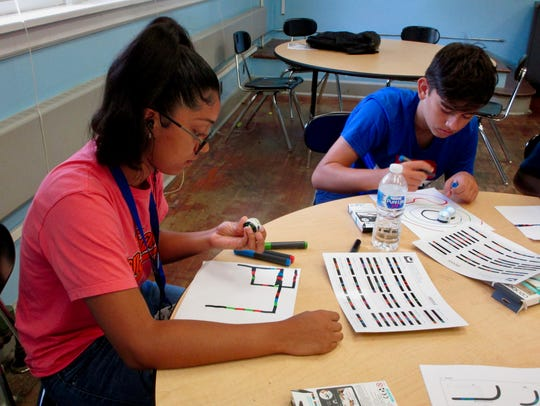 Students Danielle Velez and Yaman Ozturk using special
